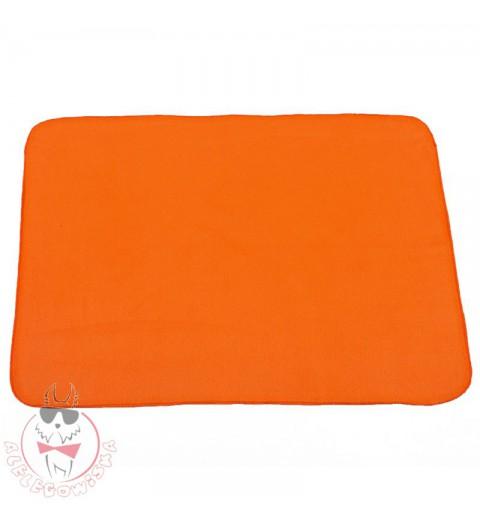 Kocyk Polarowy pomarańczowy