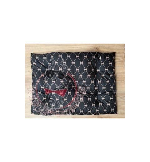 Poduszka czarna w kokardki