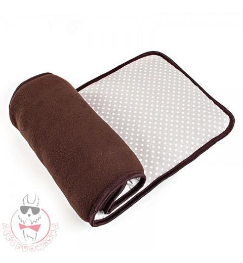 Brown window sill cushion