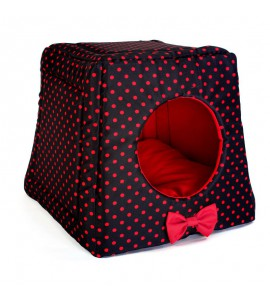 Kennel with red dots