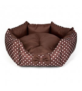 Star-shaped bed with cream dots (brown)
