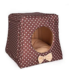 Kennel with cream dots (beige)