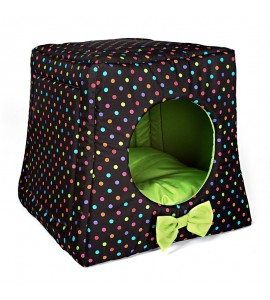 Kennel with colourful dots (green)