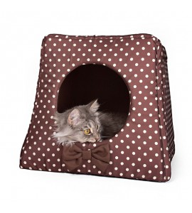 Kennel with cream dots (brown)