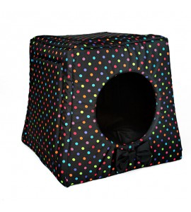 Kennel with colourful dots (black)